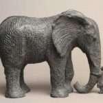 Mon éléphant - bronze <br>22 x 29 x 13,5 cm - 2018